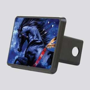 Fantasy Black Horse Rectangular Hitch Cover