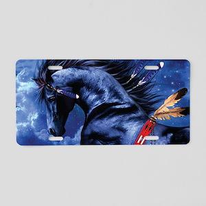 Fantasy Black Horse Aluminum License Plate