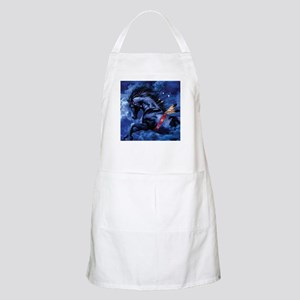 Fantasy Black Horse Light Apron