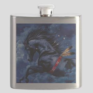 Fantasy Black Horse Flask