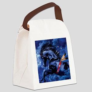 Fantasy Black Horse Canvas Lunch Bag