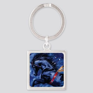 Fantasy Black Horse Keychains