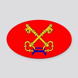Papal States Oval Car Magnet