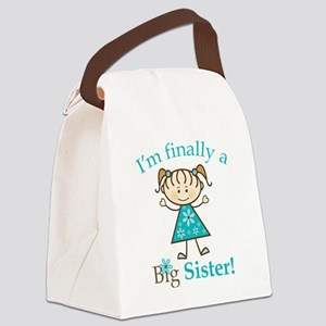 Big Sister Finally Canvas Lunch Bag