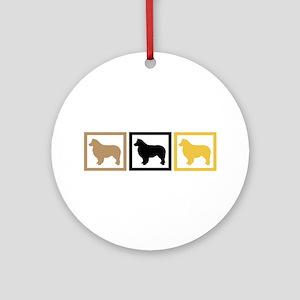 Australian Shepherd Dog Ornament (Round)