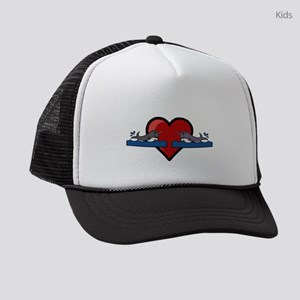 Narwhal Couple Kids Trucker hat