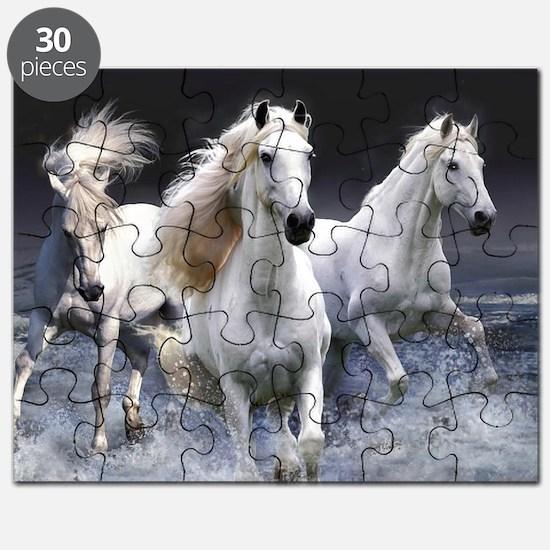 White Horses Running Puzzle