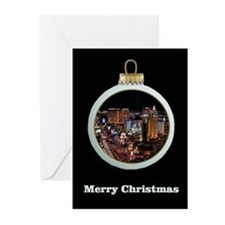 Las Vegas Strip Ornament Christmas Cards 10