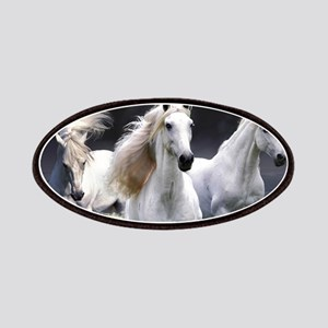White Horses Running Patch