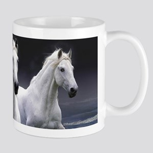 White Horses Running Mugs