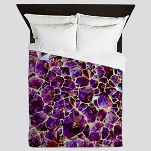 Earth Crystals Queen Duvet