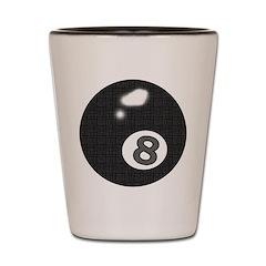 8 Ball Shot Glass