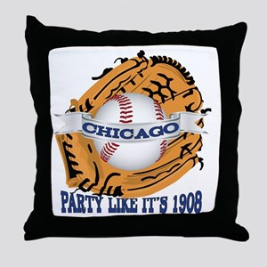 Chicago Baseball Party like it's 1908 Throw Pillow