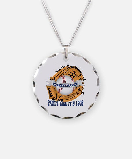 Chicago Baseball Party like  Necklace