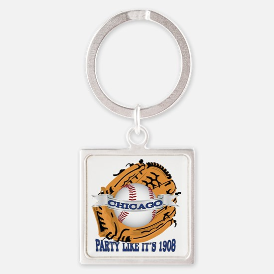 Chicago Baseball Party like it's 1 Square Keychain
