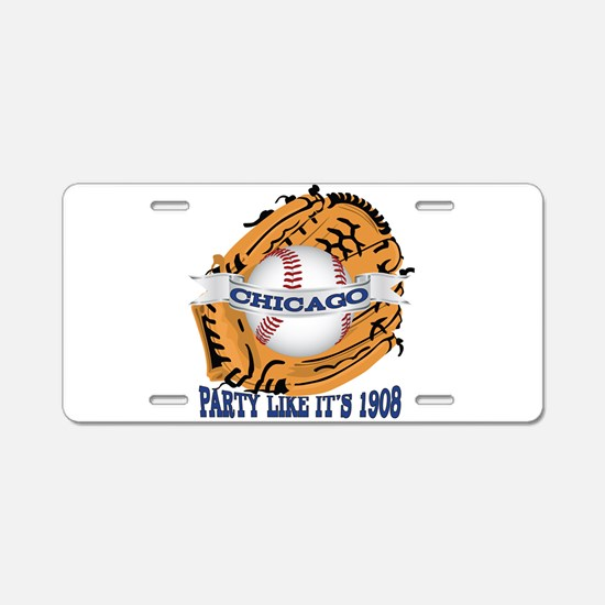 Chicago Baseball Party like Aluminum License Plate
