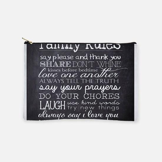 Family Rules Makeup Bag