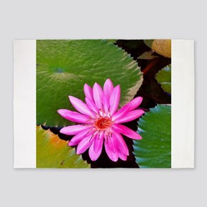 Pink Flower Photo 6 5'x7'Area Rug