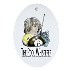 The Pool Whisperer Oval Ornament