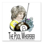 The Pool Whisperer Square Car Magnet 3