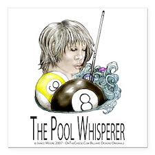 The Pool Whisperer Square Car Magnet 3