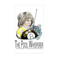 The Pool Whisperer Sticker (Rectangle 10 pk)