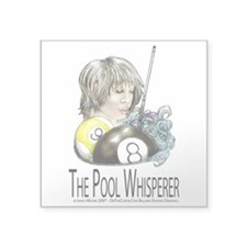 The Pool Whisperer Square Sticker 3