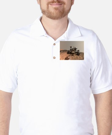 Mars Rover Curiosity Selfie Golf Shirt
