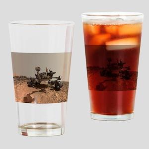 Mars Rover Curiosity Selfie Drinking Glass