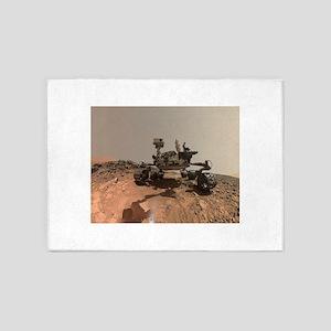 Mars Rover Curiosity Selfie 5'x7'Area Rug