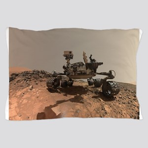 Mars Rover Curiosity Selfie Pillow Case