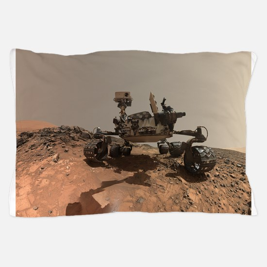 Mars Rover Curiosity Selfie Pillow Case