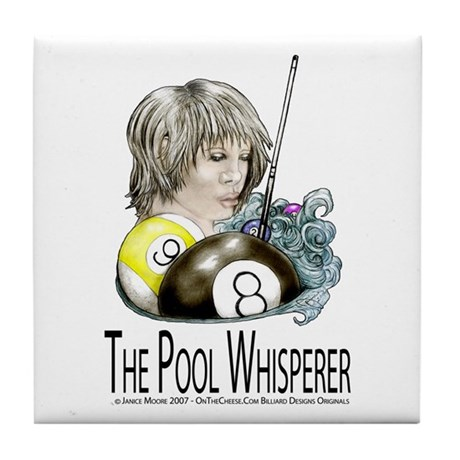 The Pool Whisperer Tile Coaster by OTC Billiard Designs