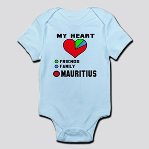 My Heart Friends, Family and M Baby Light Bodysuit