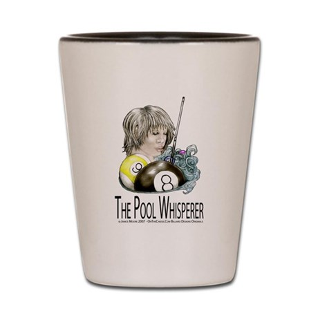 The Pool Whisperer Shot Glass by OTC Billiard Designs