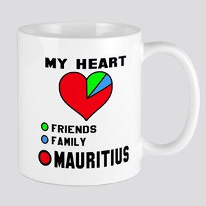 My Heart Friends, Family and Mau 11 oz Ceramic Mug