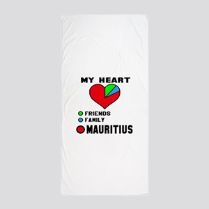 My Heart Friends, Family and Mauritius Beach Towel