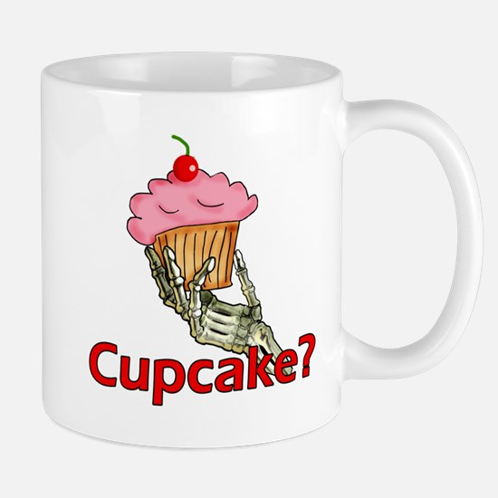 Skeleton Hand Cupcake Mug