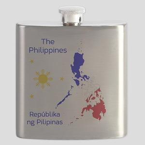 Philippines Map Illustration Flask