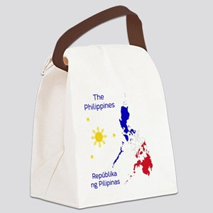 Philippines Map Illustration Canvas Lunch Bag