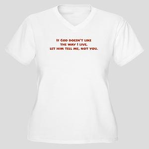 Let Him Tell Me Women's Plus Size V-Neck T-Shirt