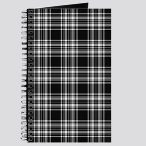 Black and White Royal Stewart Tartan Journal