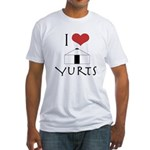 I Love Yurts Fitted T-Shirt