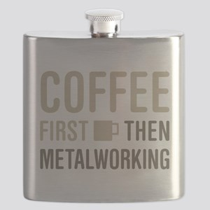 Coffee Then Metalworking Flask