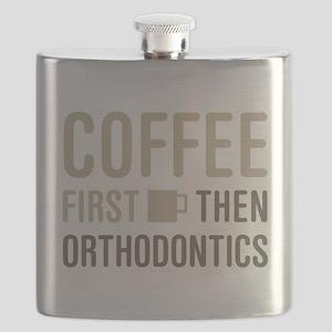 Coffee Then Orthodontics Flask