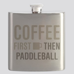 Coffee Then Paddleball Flask
