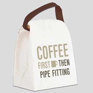 Coffee Then Pipe Fitting Canvas Lunch Bag