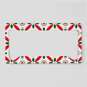 Christmas Pattern License Plate Holder