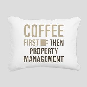 Coffee Then Property Man Rectangular Canvas Pillow