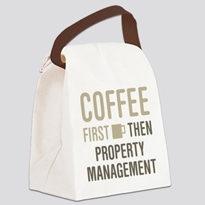Coffee Then Property Management Canvas Lunch Bag